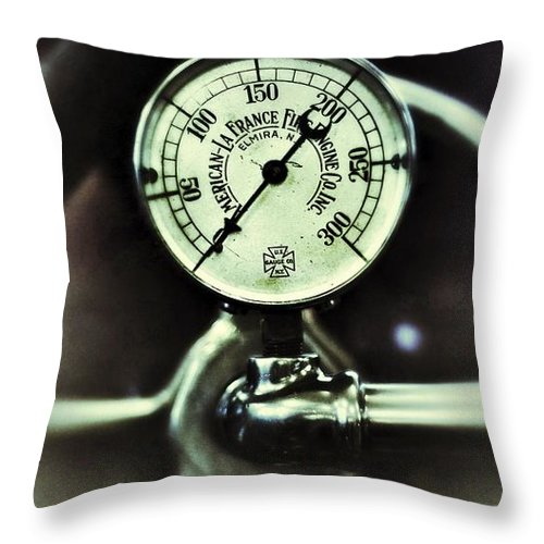 Gauge Throw Pillow featuring the photograph American Lafrance by Scott Wyatt