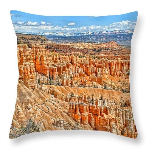 Canyon Throw Pillow featuring the photograph Amphitheater by Jason Abando