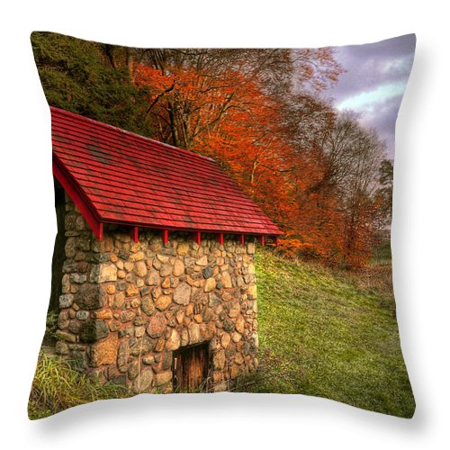 Hdr Throw Pillow featuring the photograph An Autumn Day by Brian Fisher