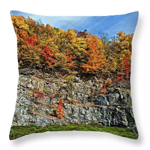 West Virginia Throw Pillow featuring the photograph An Autumn Day by Steve Harrington