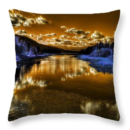 Digital Fantasy Throw Pillow featuring the photograph An Idaho Fantasy 2 by Lee Santa