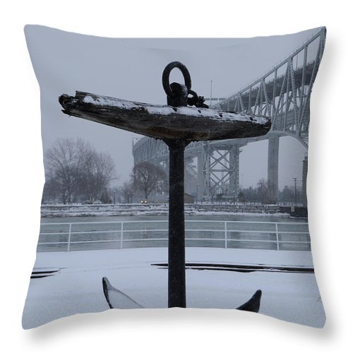 Anchor Throw Pillow featuring the photograph Anchor by Ronald Grogan