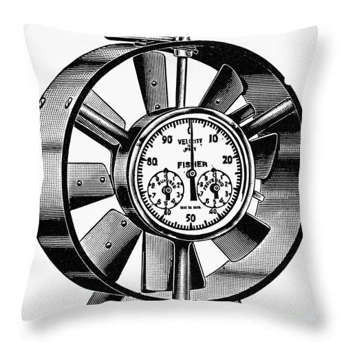 20th Century Throw Pillow featuring the photograph Anemometer, 20th Century by Granger