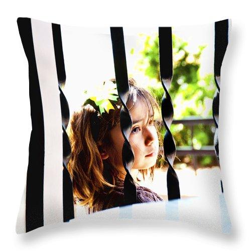 Little Girl Throw Pillow featuring the photograph Angelic by Sheri Bartoszek