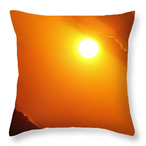 Sunset Throw Pillow featuring the photograph Angled Sunset by Alessandro Della Pietra