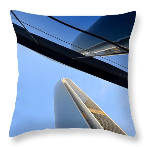 Towers Throw Pillow featuring the photograph Angles by Farah Faizal