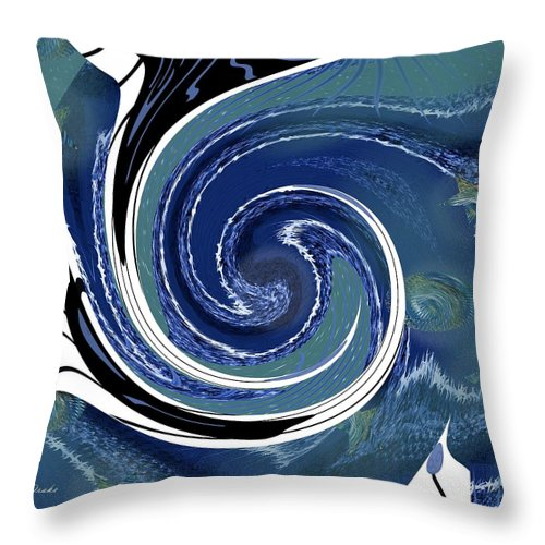 Ocean Throw Pillow featuring the digital art Angry Ocean by Alec Drake