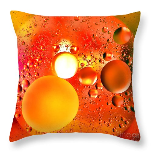 Abstract Throw Pillow featuring the photograph Another World by Olivier Le Queinec