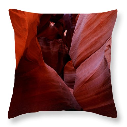 Antelope Canyon Throw Pillow featuring the photograph Antelope Canyon I by Brian Kerls