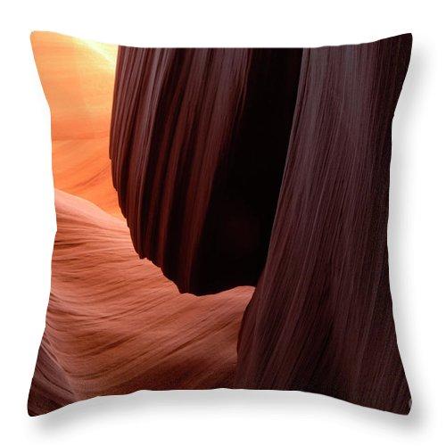 Antelope Canyon Throw Pillow featuring the photograph Antelope Canyon Living Rock by Bob Christopher