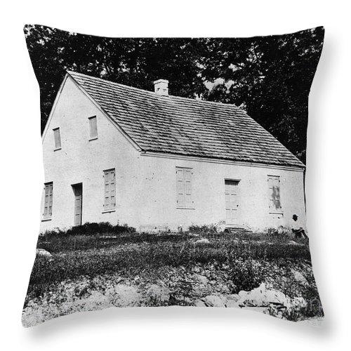 1862 Throw Pillow featuring the photograph Antietam: Dunker Church by Granger
