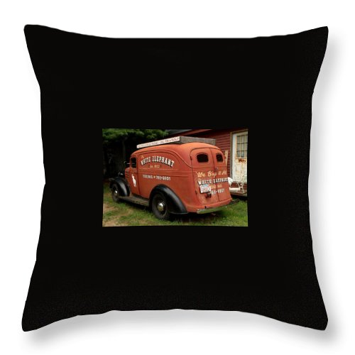 Antiques Throw Pillow featuring the photograph Antique Hauling by Caroline Stella