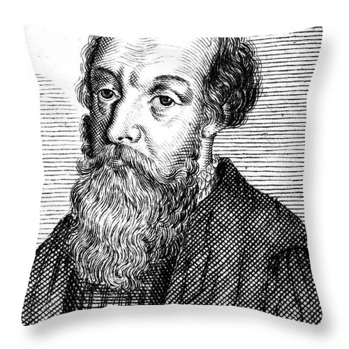 16th Century Throw Pillow featuring the photograph Anton Fugger (1493-1560) by Granger