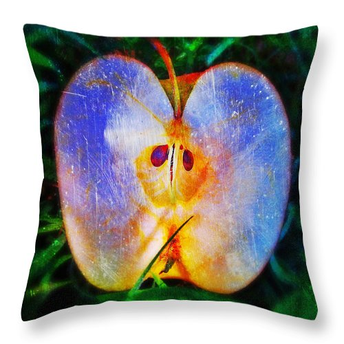 Apple 2 Throw Pillow featuring the photograph Apple 2 by Skip Hunt