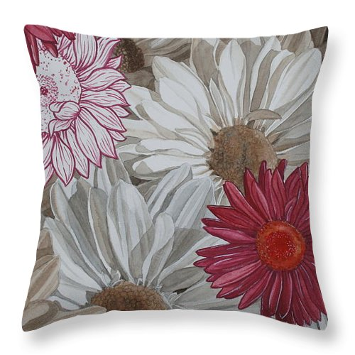 Jan Lawnikanis Throw Pillow featuring the painting Appreciation by Jan Lawnikanis