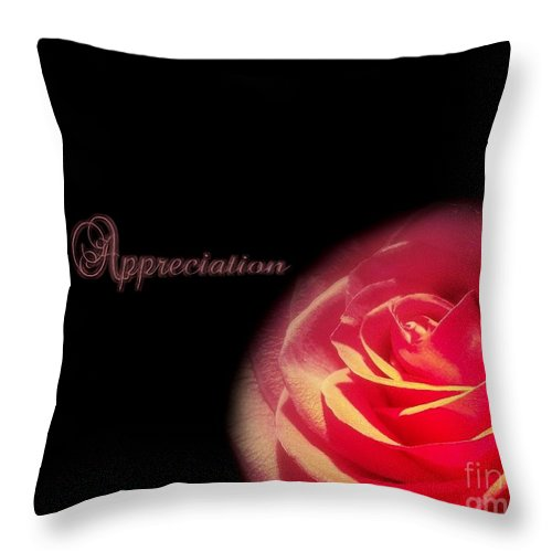 Appreciate Throw Pillow featuring the photograph Appreciation by Linda Galok
