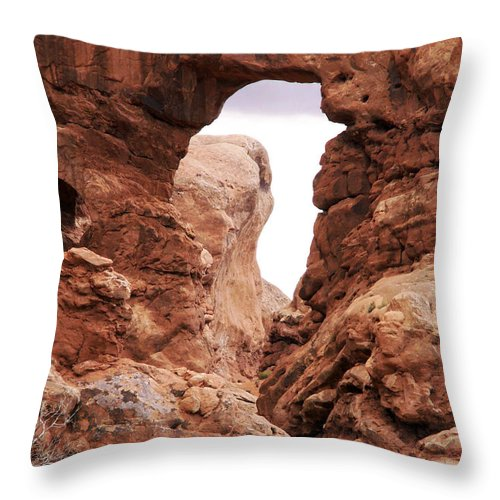 Arches National Park Photographs Throw Pillow featuring the photograph Arches by Leroy McLaughlin