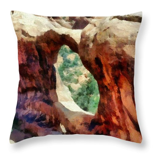 Arches National Park Throw Pillow featuring the photograph Arches National Park by Michelle Calkins