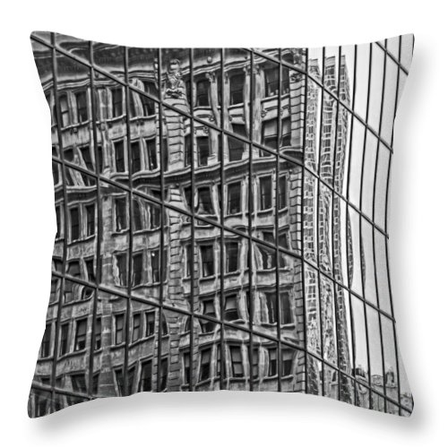 Reflections Throw Pillow featuring the photograph Architecture Reflections by Susan Candelario