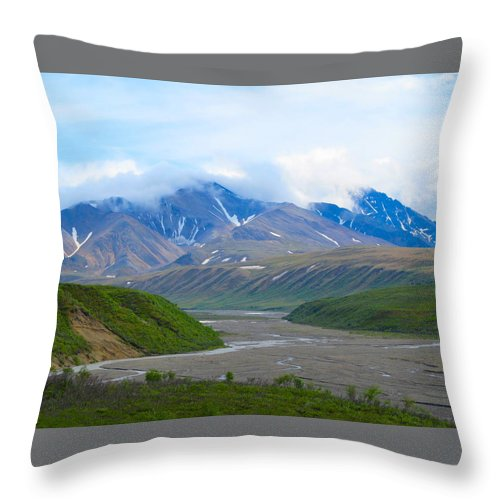 Alaska Throw Pillow featuring the photograph Arduous Trails by Michael Anthony