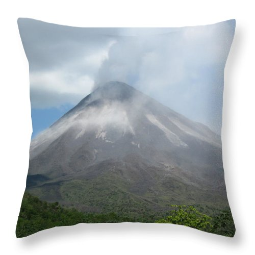 Volcano Throw Pillow featuring the photograph Arenal by Caroline Lomeli