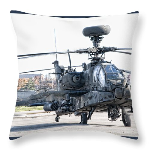 Helicopter Throw Pillow featuring the photograph Army Life by Sheri Bartoszek