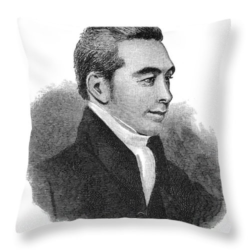 1824 Throw Pillow featuring the photograph Arnold Buffum (1782-1859) by Granger