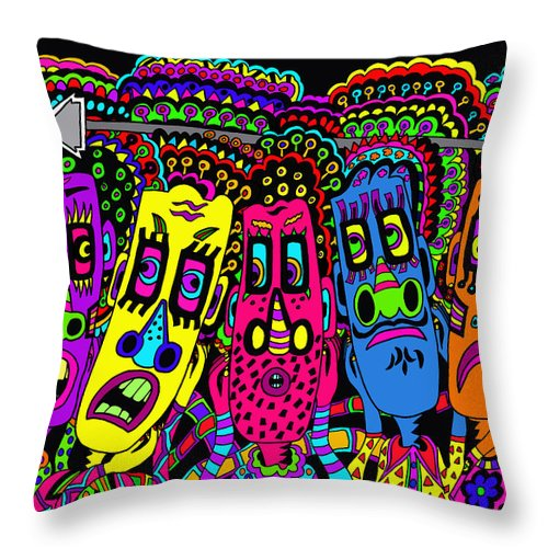 Life Throw Pillow featuring the painting Arrow Head by Karen Elzinga