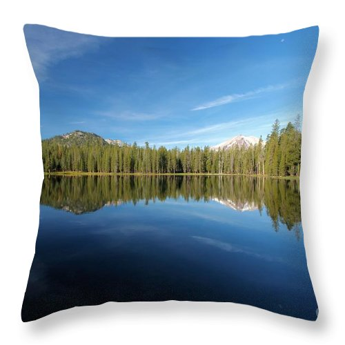 Summit Lake Throw Pillow featuring the photograph Arrowhead Reflection by Adam Jewell
