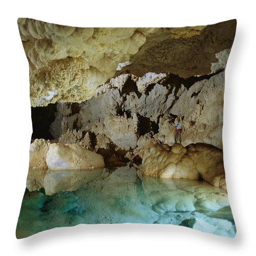 North America Throw Pillow featuring the photograph Art Palmer At Lake Of The Clouds by Stephen Alvarez