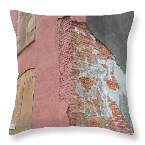 Abstract Throw Pillow featuring the photograph Artful Aging by Pamela Patch