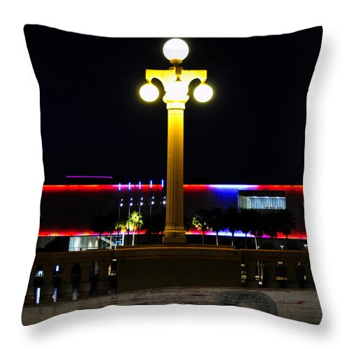 Fine Art Photography Throw Pillow featuring the photograph Artistic Lights by David Lee Thompson