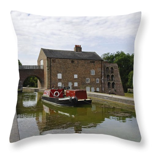 Water Throw Pillow featuring the photograph Ashby Canal At Moira Furnace by Rod Johnson