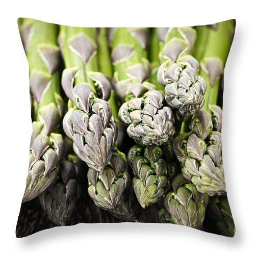 Asparagus Throw Pillow featuring the photograph Asparagus by Elena Elisseeva