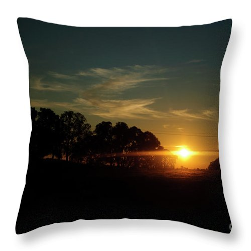 Sunset Throw Pillow featuring the photograph At Day's End by Diego Re