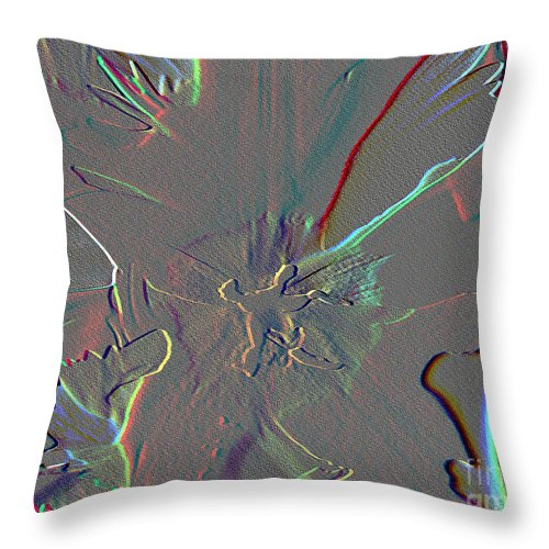 Mixed Media Throw Pillow featuring the mixed media At The Center Of It All by Patricia Griffin Brett