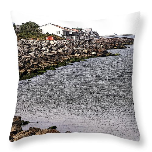 Landscape Throw Pillow featuring the photograph At Water's Edge by Susan Stevenson