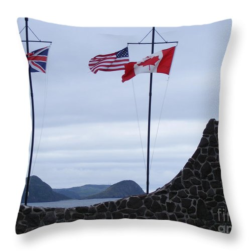 Atlantic Charter Throw Pillow featuring the photograph Atlantic Charter Site by Barbara Griffin