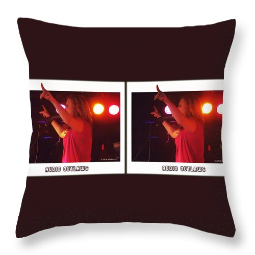 3d Throw Pillow featuring the photograph Audio Outlaws - Cross Your Eyes And Focus On The Middle Image by Brian Wallace
