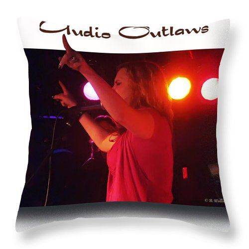 2d Throw Pillow featuring the photograph Audio Outlaws by Brian Wallace