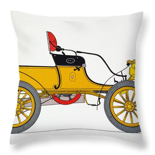 1904 Throw Pillow featuring the photograph Auto: Oldsmobile, 1904 by Granger