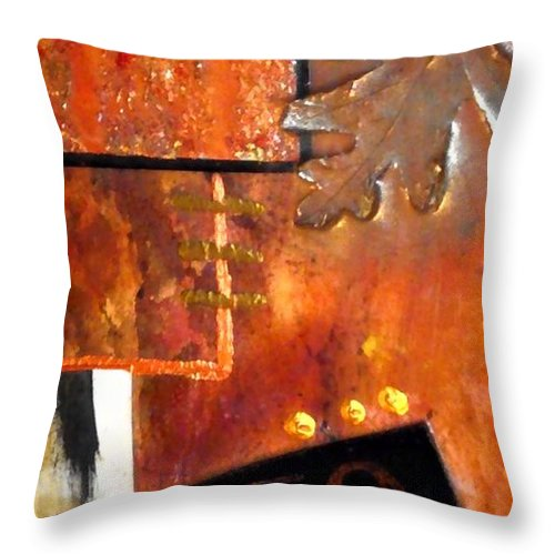 Greeting Cards Throw Pillow featuring the photograph Autumn Life by Angela L Walker