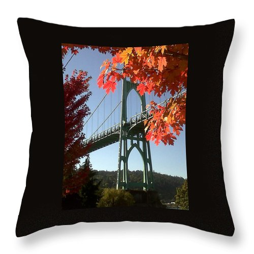 Oregon Throw Pillow featuring the photograph Autumn by Quin Sweetman