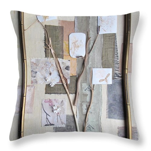 Autumn Throw Pillow featuring the mixed media Autumn by Sandy McIntire