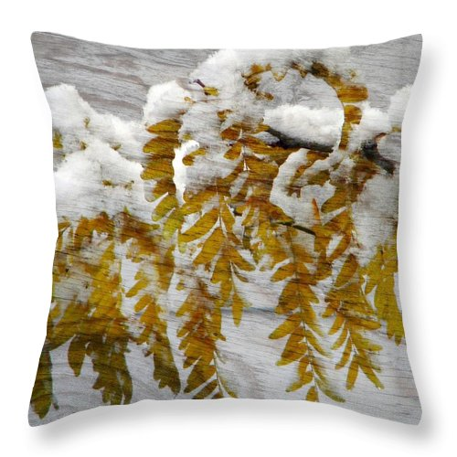 Snow Throw Pillow featuring the photograph Autumn Snow by Michelle Frizzell-Thompson