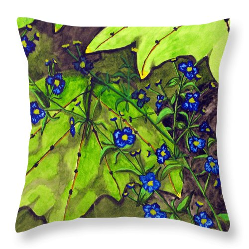 Blue Blossoms Throw Pillow featuring the photograph Awesome Blossom by Debi Singer