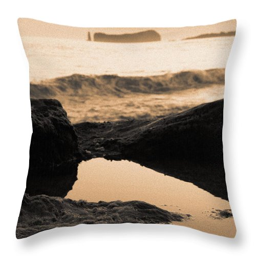 Azores Throw Pillow featuring the photograph Azores Islands Seascape by Gaspar Avila