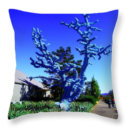 Baby Blue Tree Throw Pillow featuring the photograph Baby Blue Tree by Xueling Zou