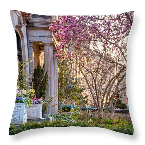 April Throw Pillow featuring the photograph Back Bay Spring by Susan Cole Kelly