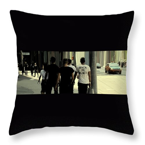 Toronto Throw Pillow featuring the photograph Back In Black by Ian MacDonald